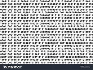 The Binary Code - Black Text On White Background, Large ...
