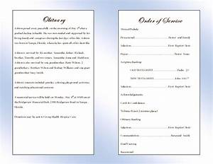 free memorial service program template quotes With free editable funeral program template