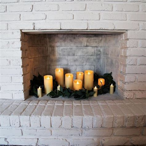 Decorating With Candles Fireplace by 20 Simple Ways To Decorate A Fireplace Mantle With