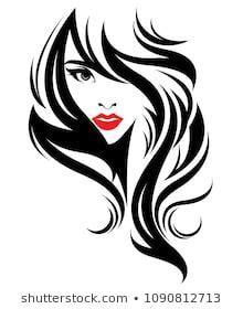 illustration  beautiful women logo women face makeup