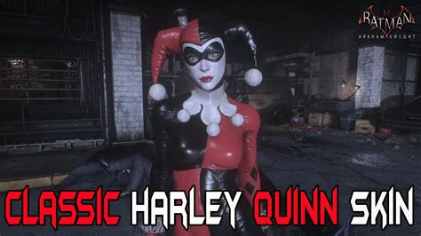 batman arkham knight classic harley quinn skin gameplay youtube