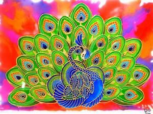Peacock, Glass, Painting, U2013, Creative, Art