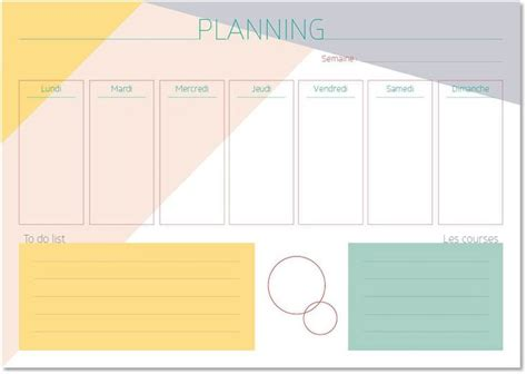 Planning menu semaine excel fonction. Semainier imprimable, A4, planning hebdomadaire / Printable weekly planner | Imprimable ...
