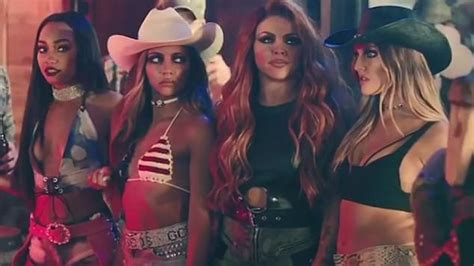 Little Mix's Perrie gets soaked in No More Sad Songs video ...