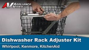 Whirlpool  Kenmore  Kitchenaid Dishwasher Rack Adjustment