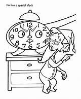 Clock Coloring Elf Santa Helpers Mad Alarm Sheet Cartoon Sheets Children Popular Library Clipart Honkingdonkey Coloringhome sketch template