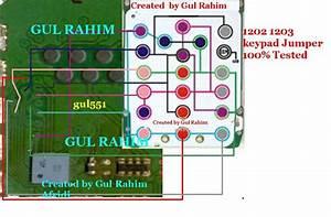 Mobile Diagram With Repairing Hardware  1203 1662 Keypad Ic