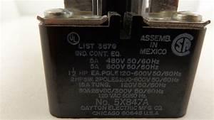 5x847a  Dayton  Open Power Relay 2 Poles 120 60hz