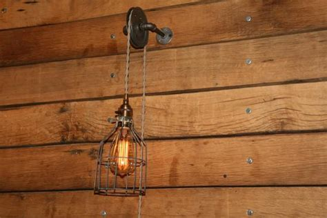 Pulley Wall Mount Light Industrial Wall Sconce Pendant