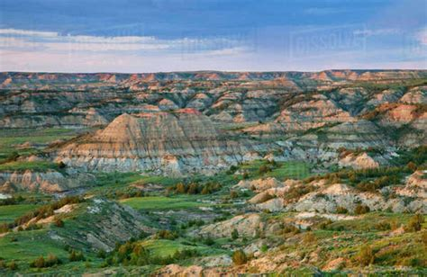colorful badlands  painted canyon overlook  theodore