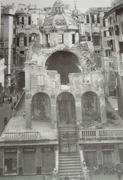 banchi chiesa chiesa di s pietro in banchi in piazza banchi bombardata