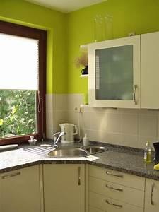 Farbe Für Küchenfronten : k che gr n streichen k che mit farbe interieur ideen ~ Sanjose-hotels-ca.com Haus und Dekorationen