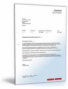 Resturlaub Kündigung Berechnen : k ndigung arbeitsvertrag vorlage pdf k ndigung vorlage ~ Themetempest.com Abrechnung