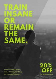 Black  U0026 White Neon Gym Poster