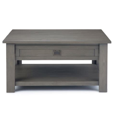 """Tips to choose farmhouse coffee table photos, the entire vignette and grey living rooms. Simpli Home Monroe 38"""" Square Storage Coffee Table in Farmhouse Gray 840469040656   eBay"""