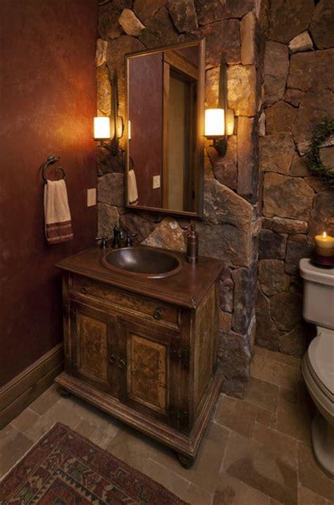 rustic half bath decorating ideas 50 wonderful bathroom designs digsdigs