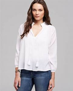 Lyst Joe 39 S Jeans Blouse Embroidered In White