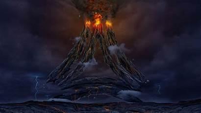 Volcano Fantasy Sci Fi Lava Wallpapers Science