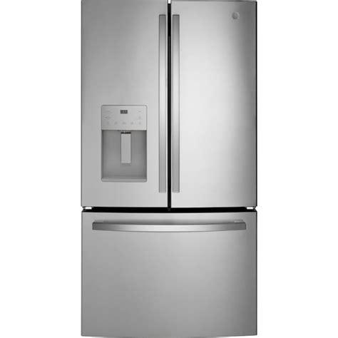 ge  cu ft french door refrigerator  ice maker fingerprint resistant stainless steel
