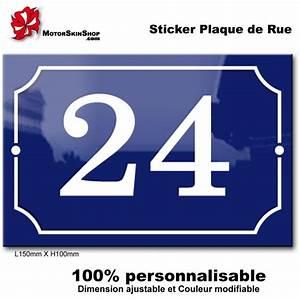 Plaque Numero De Rue : numero de rue original plaque de rue personnalisee ~ Melissatoandfro.com Idées de Décoration