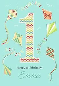 Free Printable Kite Template Kite 1st Birthday Card 1st Birthday Cards Free