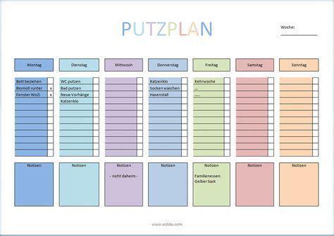 putzplan haushalt vorlage  tips und tricks putzplan