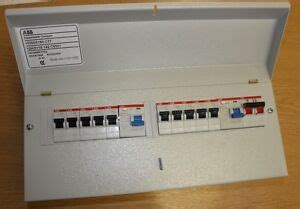 12 way abb 17th edition amendment 3 metal consumer unit 10 mcb 2 rcd isolator ebay