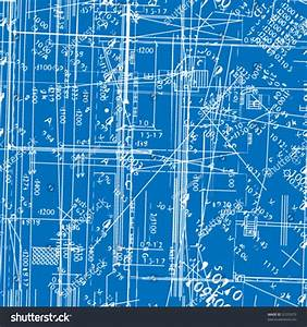 Seamless Vector Simulating Engineering Blueprint Filled