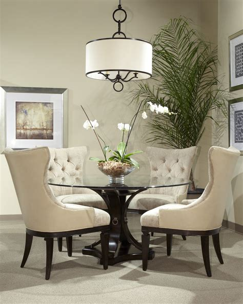 classic glass  table dining room set