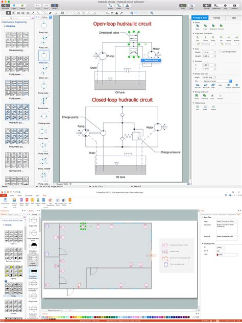 office layout software electrical drawing