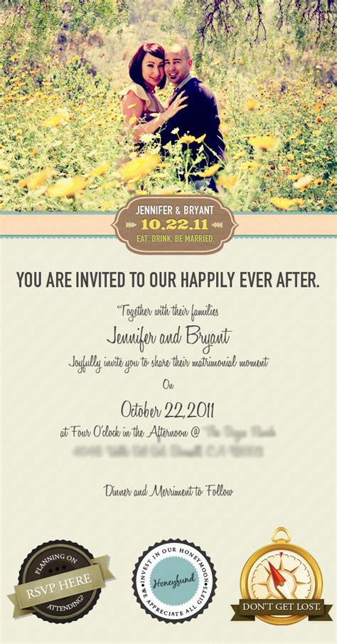 Email Wedding Invitation by Vincent Valentino via Behance