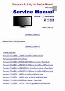 Panasonic Tx L37g10b Service Manual By Tawannaslattery2