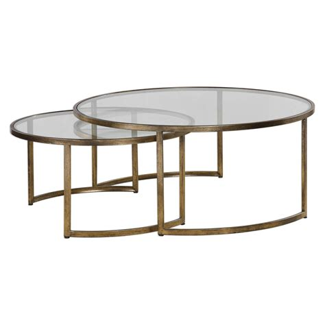 set of two table ls uttermost rhea nested coffee tables set of two on sale