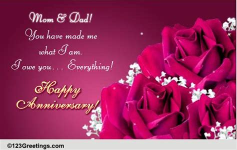 happy anniversary mom dad  family wishes ecards