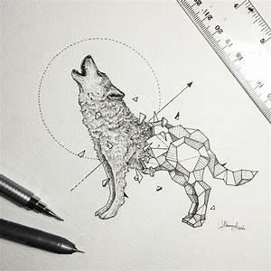 Tatouage Loup Geometrique : les animaux g om triques de kerby rosanes projets ~ Melissatoandfro.com Idées de Décoration
