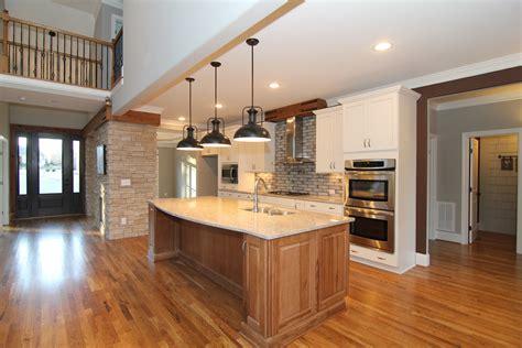 hickory kitchen island craftsman home design apex nc custom home stanton homes 1631