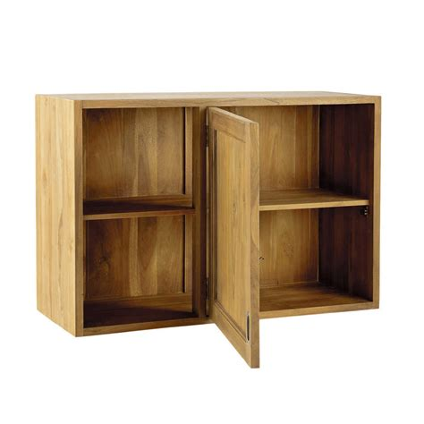 meuble d angle haut cuisine meuble haut d 39 angle de cuisine ouverture gauche en teck