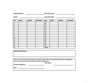 Excel Timesheet Template For Employees Monthly Timesheet Template 15 Free Documents In Pdf Word