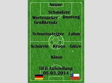 Deutschland Chile Länderspiel heute Facts & Info