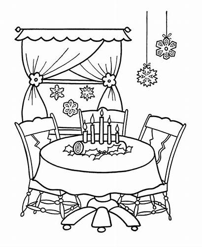 Decorations Christmas Coloring Pages Ornaments Printables Drawing