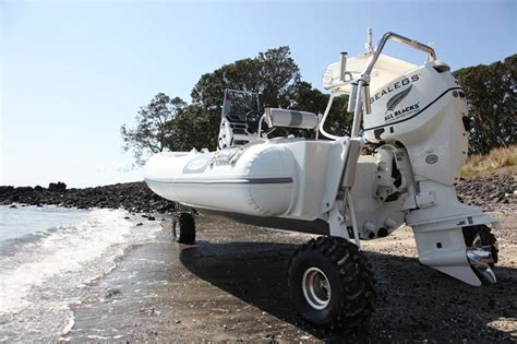 Rib Boat With Wheels by Sealegs Boat On Wheels Extravaganzi