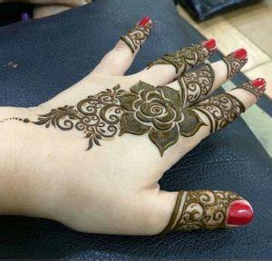 glamorous rose flower mehndi designs  sheideas