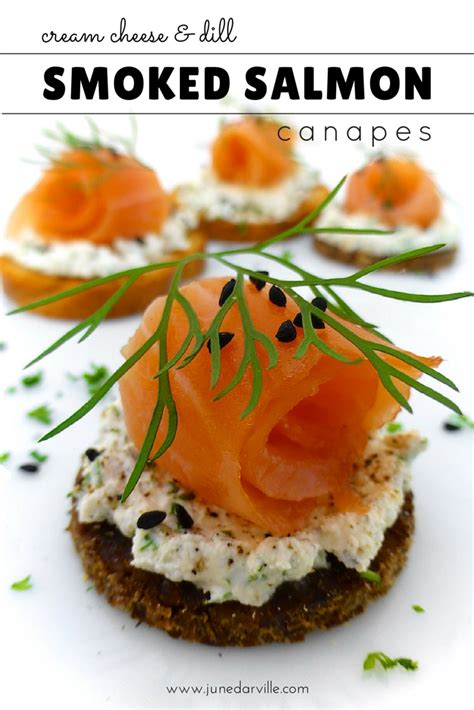 easy smoked salmon canapes smoked salmon canapes with cheese simple tasty