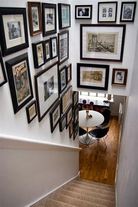 creative staircase wall decorating ideas art frames