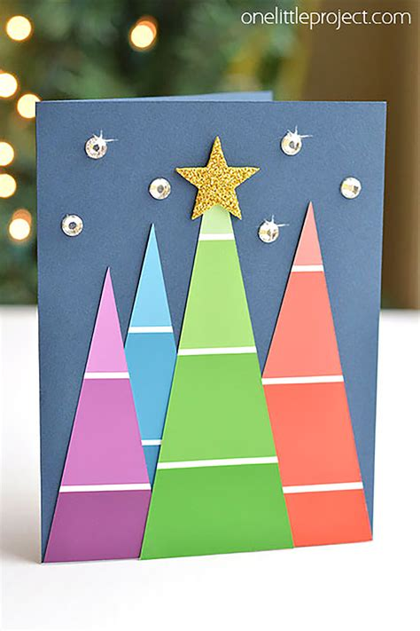 diy christmas card ideas easy homemade christmas