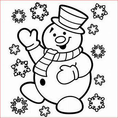 Snowman Coloring Christmas Pages Printable Filminspector