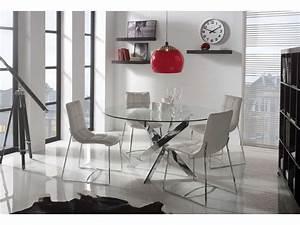 Table Ronde 140 Cm : table ronde 140 cm ruth coloris argent vente de table conforama ~ Teatrodelosmanantiales.com Idées de Décoration