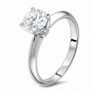 diamond ring in 18k white gold diamondland With diamond free wedding rings