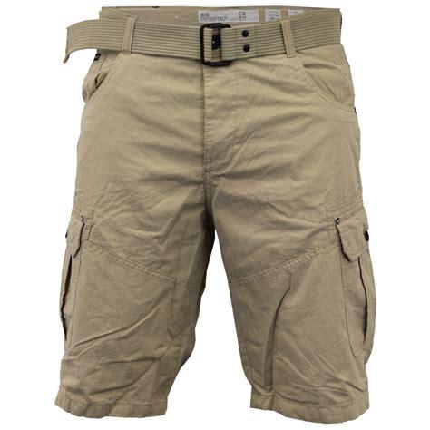 denim trouser mens crosshatch camouflage shorts cargo combat belt knee