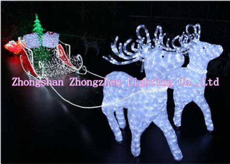 light  led de santa renne traineau decoration de noel